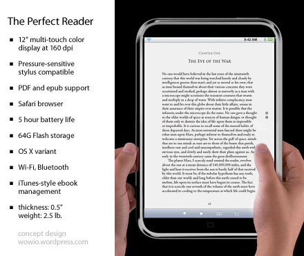 iTablet Ebook Reader concept