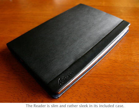 Sony Reader in its case