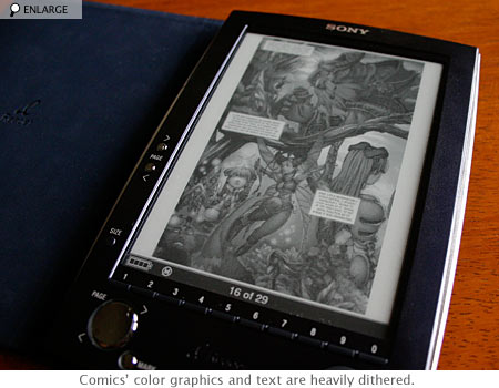 Sony Reader and comics