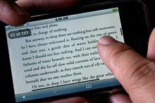 scrolling a long ebook on the iPhone