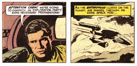Star Trek comic book panels